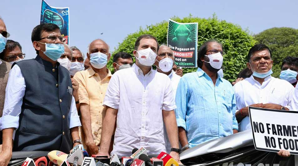 Protest-against-the-curtailment-of-the-monsoon-session