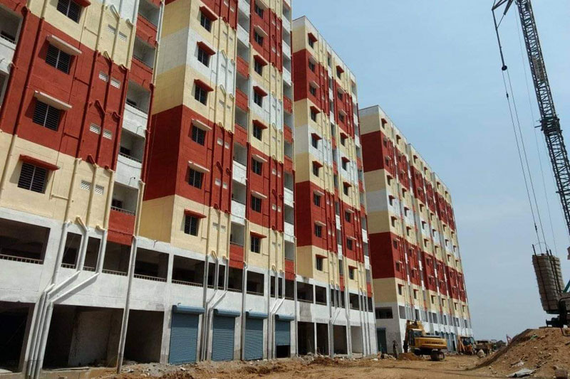 168 Double Bed Room Houses allotted to Beneficiaries