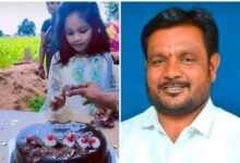 Girl Celebrates B'day near Father's Grave who died of Covid