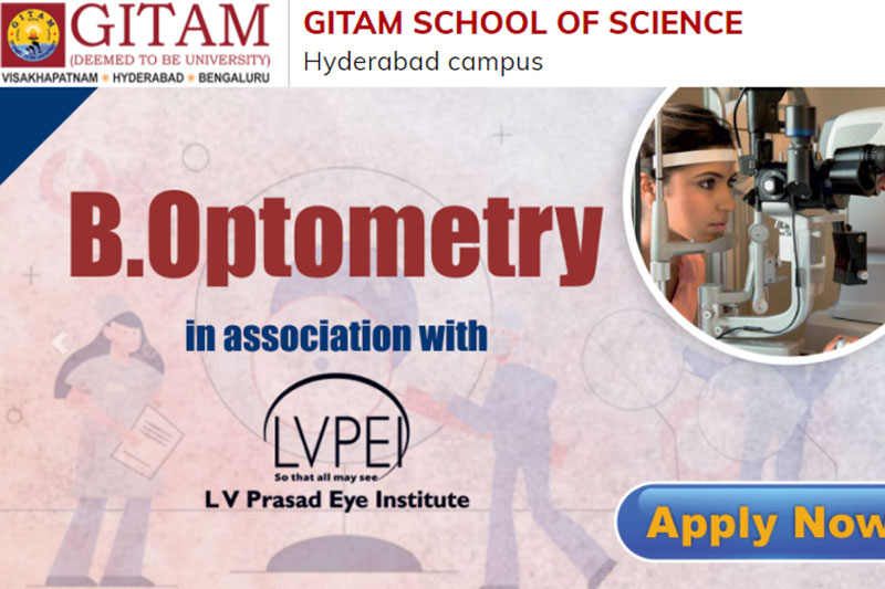 Admissions in B.Optom & Science Courses @ GITAM