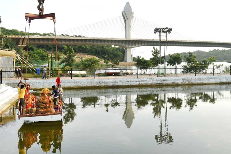 All set for Ganesh idols immersion in Hyderabad on 19 Sep