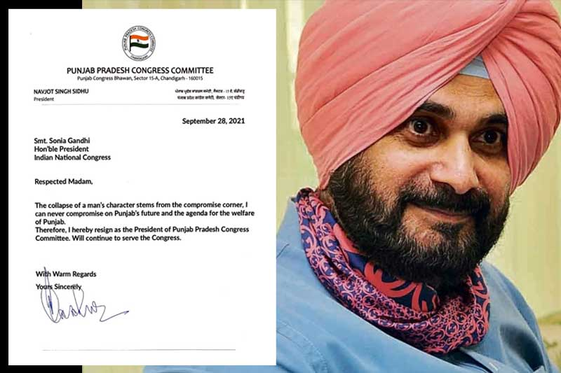 After 71 days at helm, Sidhu resigns as Punjab Congress chief
