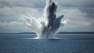 China's first underwater explosion test to attack enemy ports