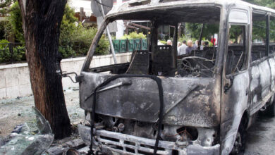 13 killed in Damascus army bus explosion