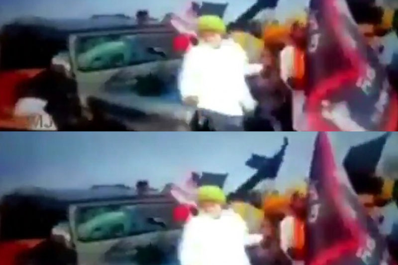 Cong shares video clip of vehicle running over people in Lakhimpur Kheri