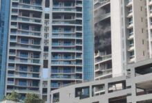 One falls to death as fire breaks out in 61-storey Mumbai building