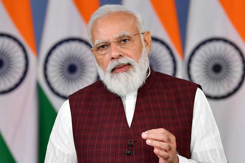 The Prime Minister, Narendra Modi addressing at the 28th National Human Rights Commission (NHRC) Foundation Day programme, through video conferencing, in New Delhi.