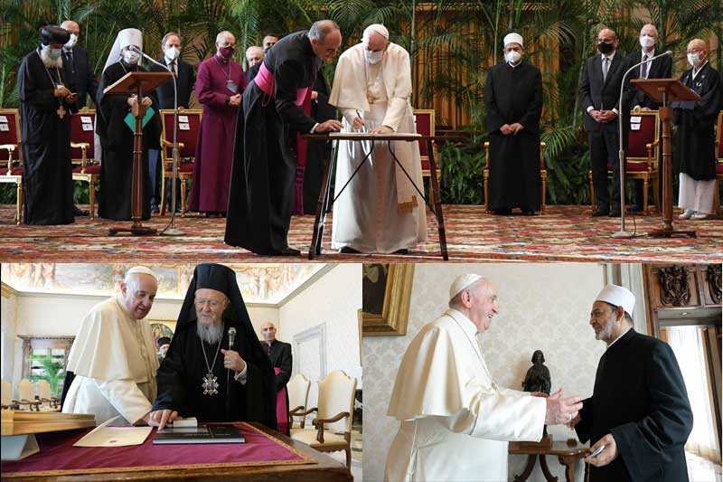 Pope Francis, faith leaders sign joint climate appeal ahead of UN summit