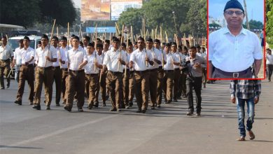 Municipality Commissioner takes part in RSS march in K'taka