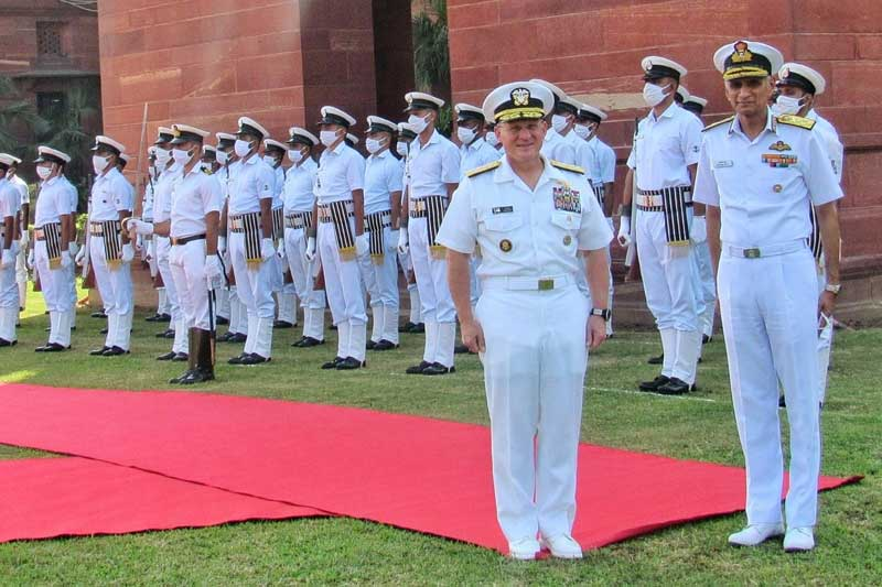 US Navy Chief in India to strengthen military cooperation