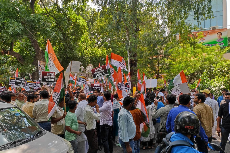 Youth Cong workers protest in Delhi over Lakhimpur Kheri violence